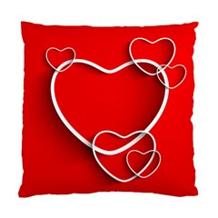 Heart Love Valentines Day Red Standard Cushion Case (One Side)