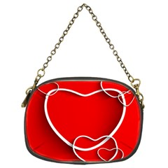 Heart Love Valentines Day Red Chain Purses (Two Sides)