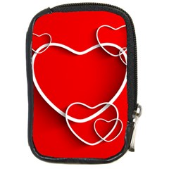 Heart Love Valentines Day Red Compact Camera Cases