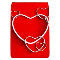 Heart Love Valentines Day Red Flap Covers (L)