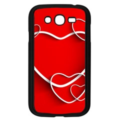 Heart Love Valentines Day Red Samsung Galaxy Grand DUOS I9082 Case (Black)