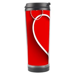 Heart Love Valentines Day Red Travel Tumbler