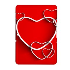 Heart Love Valentines Day Red Samsung Galaxy Tab 2 (10.1 ) P5100 Hardshell Case
