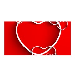 Heart Love Valentines Day Red Satin Wrap