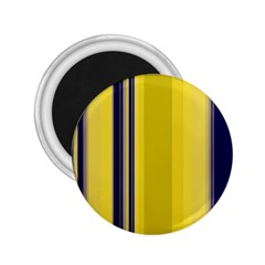 Yellow Blue Background Stripes 2.25  Magnets