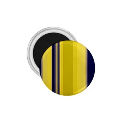 Yellow Blue Background Stripes 1.75  Magnets