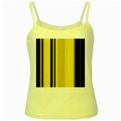 Yellow Blue Background Stripes Yellow Spaghetti Tank