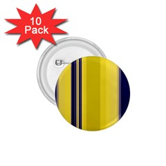 Yellow Blue Background Stripes 1.75  Buttons (10 pack)