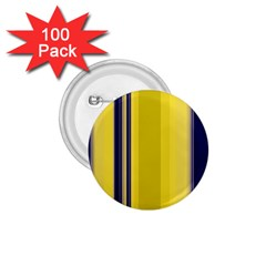 Yellow Blue Background Stripes 1 75  Buttons (100 Pack)