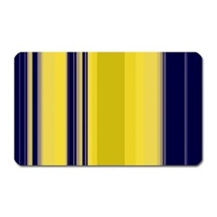 Yellow Blue Background Stripes Magnet (Rectangular)