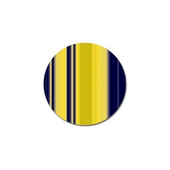 Yellow Blue Background Stripes Golf Ball Marker (4 pack)