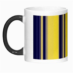 Yellow Blue Background Stripes Morph Mugs