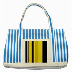 Yellow Blue Background Stripes Striped Blue Tote Bag
