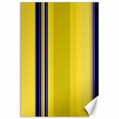 Yellow Blue Background Stripes Canvas 12  X 18