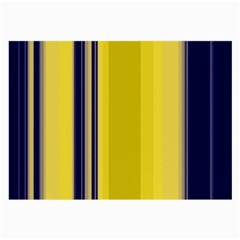 Yellow Blue Background Stripes Large Glasses Cloth (2-Side)