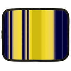 Yellow Blue Background Stripes Netbook Case (XL)