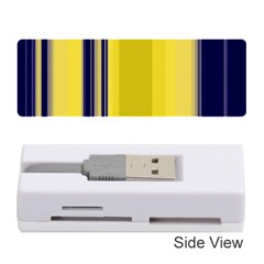 Yellow Blue Background Stripes Memory Card Reader (stick)