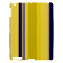Yellow Blue Background Stripes Apple iPad 3/4 Hardshell Case