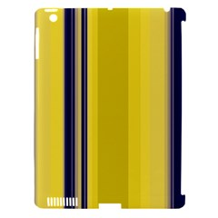 Yellow Blue Background Stripes Apple iPad 3/4 Hardshell Case (Compatible with Smart Cover)