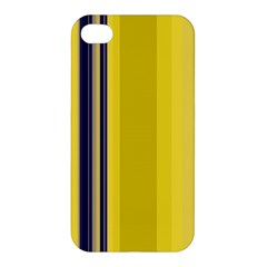 Yellow Blue Background Stripes Apple iPhone 4/4S Premium Hardshell Case