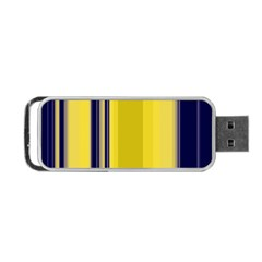 Yellow Blue Background Stripes Portable USB Flash (Two Sides)