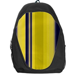 Yellow Blue Background Stripes Backpack Bag