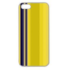 Yellow Blue Background Stripes Apple Seamless iPhone 5 Case (Clear)