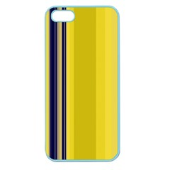 Yellow Blue Background Stripes Apple Seamless iPhone 5 Case (Color)
