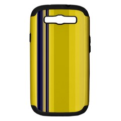 Yellow Blue Background Stripes Samsung Galaxy S III Hardshell Case (PC+Silicone)