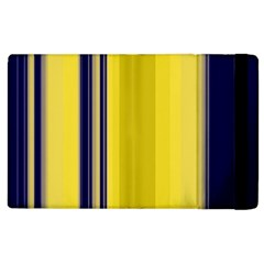 Yellow Blue Background Stripes Apple Ipad 2 Flip Case