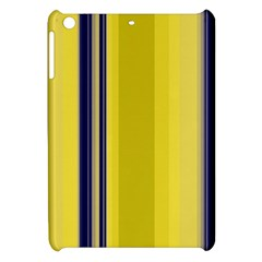 Yellow Blue Background Stripes Apple iPad Mini Hardshell Case