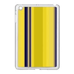 Yellow Blue Background Stripes Apple iPad Mini Case (White)