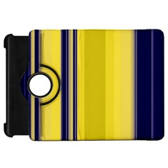 Yellow Blue Background Stripes Kindle Fire HD 7