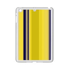 Yellow Blue Background Stripes iPad Mini 2 Enamel Coated Cases
