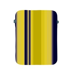 Yellow Blue Background Stripes Apple iPad 2/3/4 Protective Soft Cases
