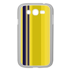 Yellow Blue Background Stripes Samsung Galaxy Grand DUOS I9082 Case (White)