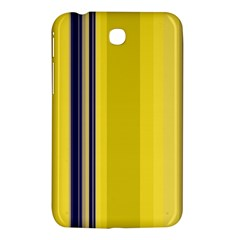 Yellow Blue Background Stripes Samsung Galaxy Tab 3 (7 ) P3200 Hardshell Case