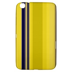 Yellow Blue Background Stripes Samsung Galaxy Tab 3 (8 ) T3100 Hardshell Case
