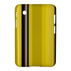 Yellow Blue Background Stripes Samsung Galaxy Tab 2 (7 ) P3100 Hardshell Case