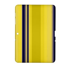 Yellow Blue Background Stripes Samsung Galaxy Tab 2 (10.1 ) P5100 Hardshell Case