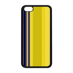 Yellow Blue Background Stripes Apple iPhone 5C Seamless Case (Black)