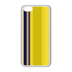 Yellow Blue Background Stripes Apple iPhone 5C Seamless Case (White)
