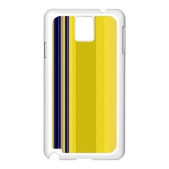 Yellow Blue Background Stripes Samsung Galaxy Note 3 N9005 Case (White)