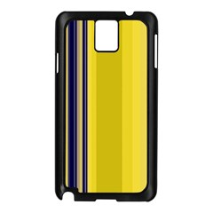 Yellow Blue Background Stripes Samsung Galaxy Note 3 N9005 Case (Black)