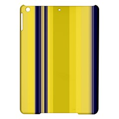 Yellow Blue Background Stripes iPad Air Hardshell Cases