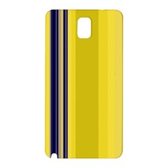 Yellow Blue Background Stripes Samsung Galaxy Note 3 N9005 Hardshell Back Case