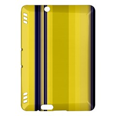 Yellow Blue Background Stripes Kindle Fire HDX Hardshell Case