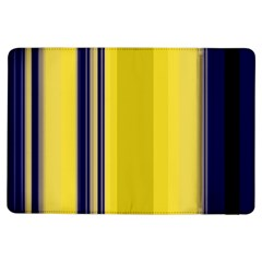 Yellow Blue Background Stripes Ipad Air Flip