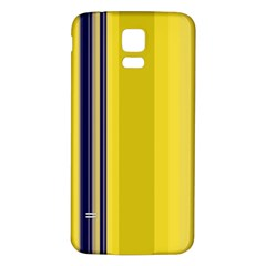 Yellow Blue Background Stripes Samsung Galaxy S5 Back Case (White)
