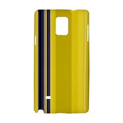 Yellow Blue Background Stripes Samsung Galaxy Note 4 Hardshell Case